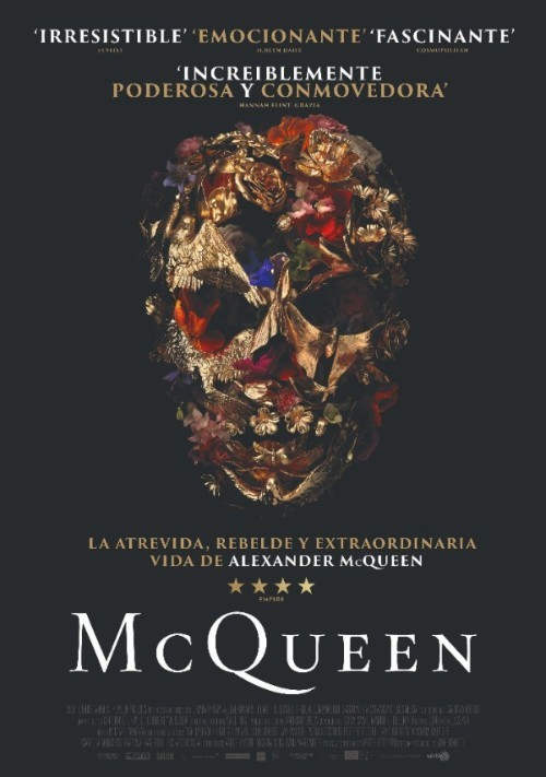 "Cartel oficial del documental ""McQueen""."