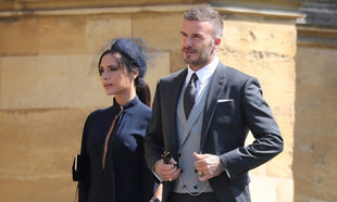 Los Beckham en la boda real de Harry y Meghan.