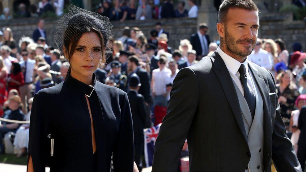 Victoria y David Beckham el pasado 19 de mayo en la boda de Harry de...