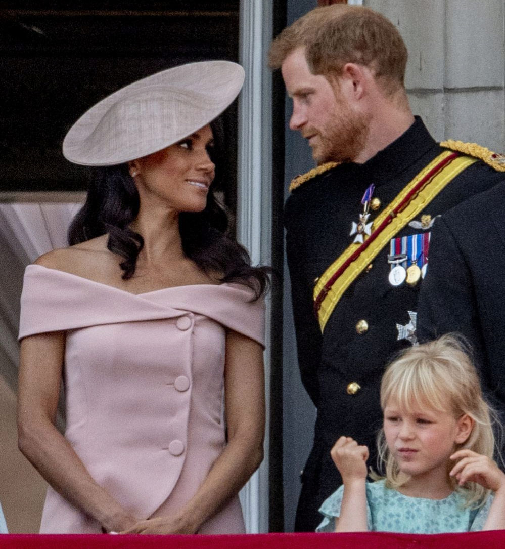 El príncipe Harry y Meghan Markle durante el Trooping the Colour.
