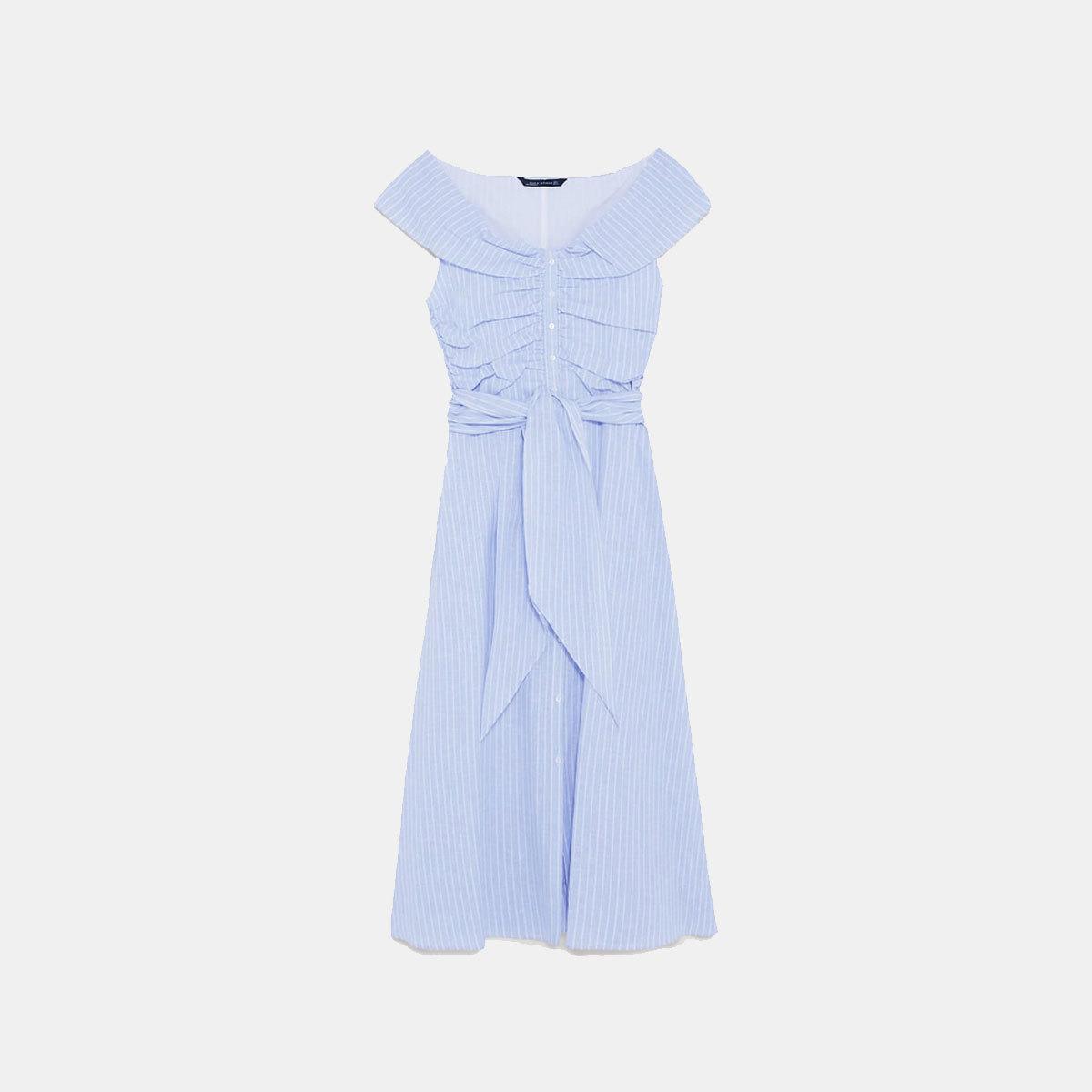 Vestido midi de Zara (39, 95 euros).