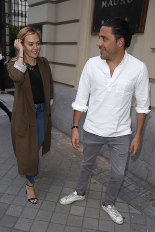 Marta Ortega y Carlos Torretta saliendo del Hotel Santo Mauro de...