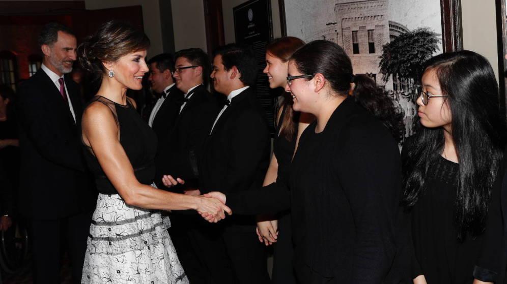 El esperado duelo de estilo entre doña Letizia y Melania Trump llegó