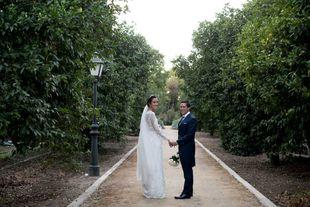 Inma y Alberto se casaron en una romántica boda en el barrio de...