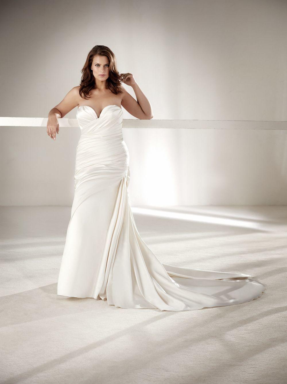 Vestido de novia de Pronovias.
