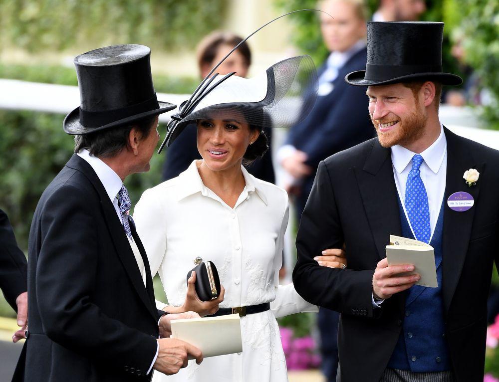 El príncipe Harry y Meghan Markle en Ascot.