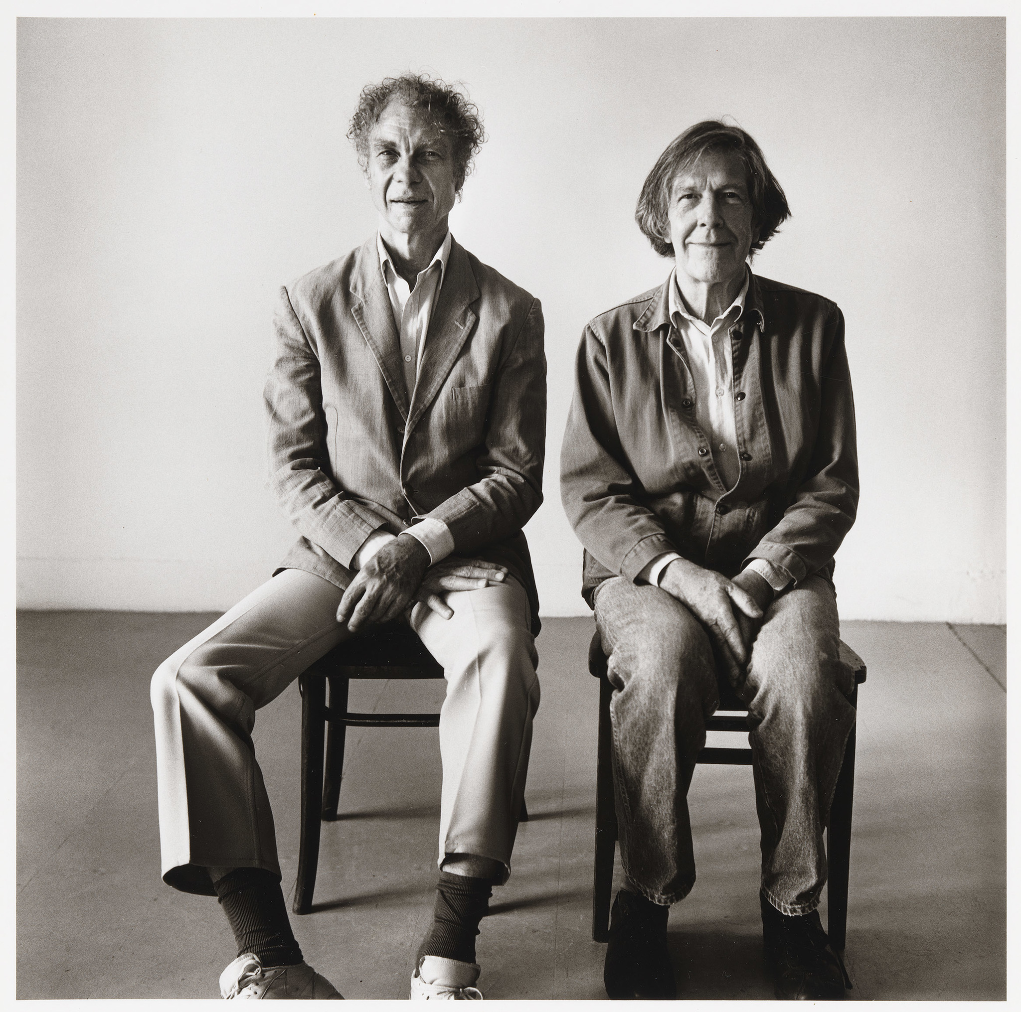 Merce Cunningham and John Cage Seated, 1986 Cortesía Peter Hujar...