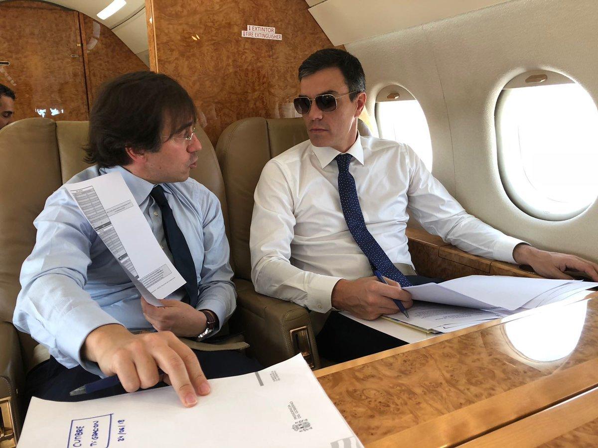 Pedro Sánchez vuela a Bruselas en un avión de la Fuerza Aérea con...