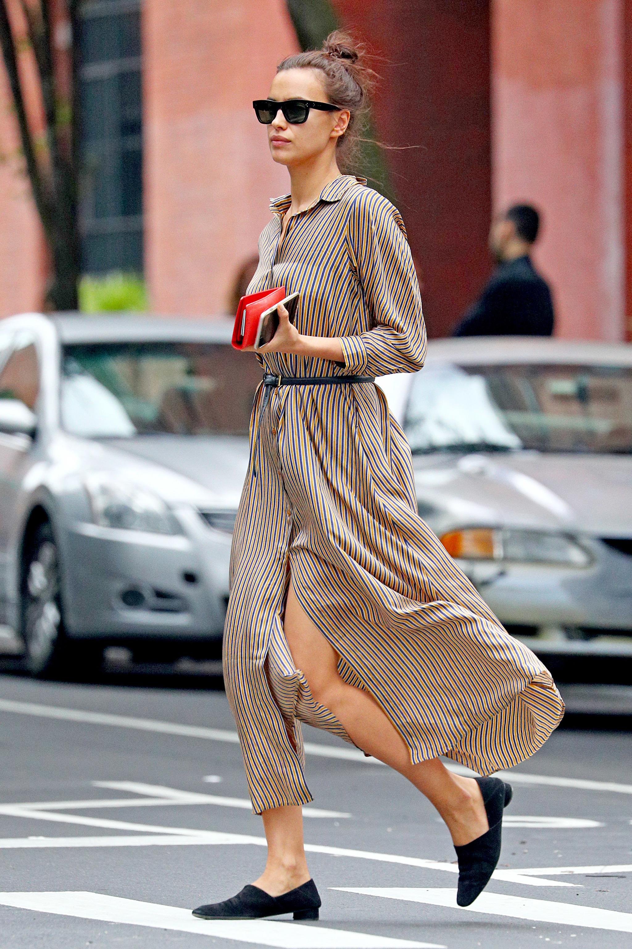 ahorre hasta 60% volumen grande modelado duradero Irina Shayk tiene el look del verano: el vestido midi de ...