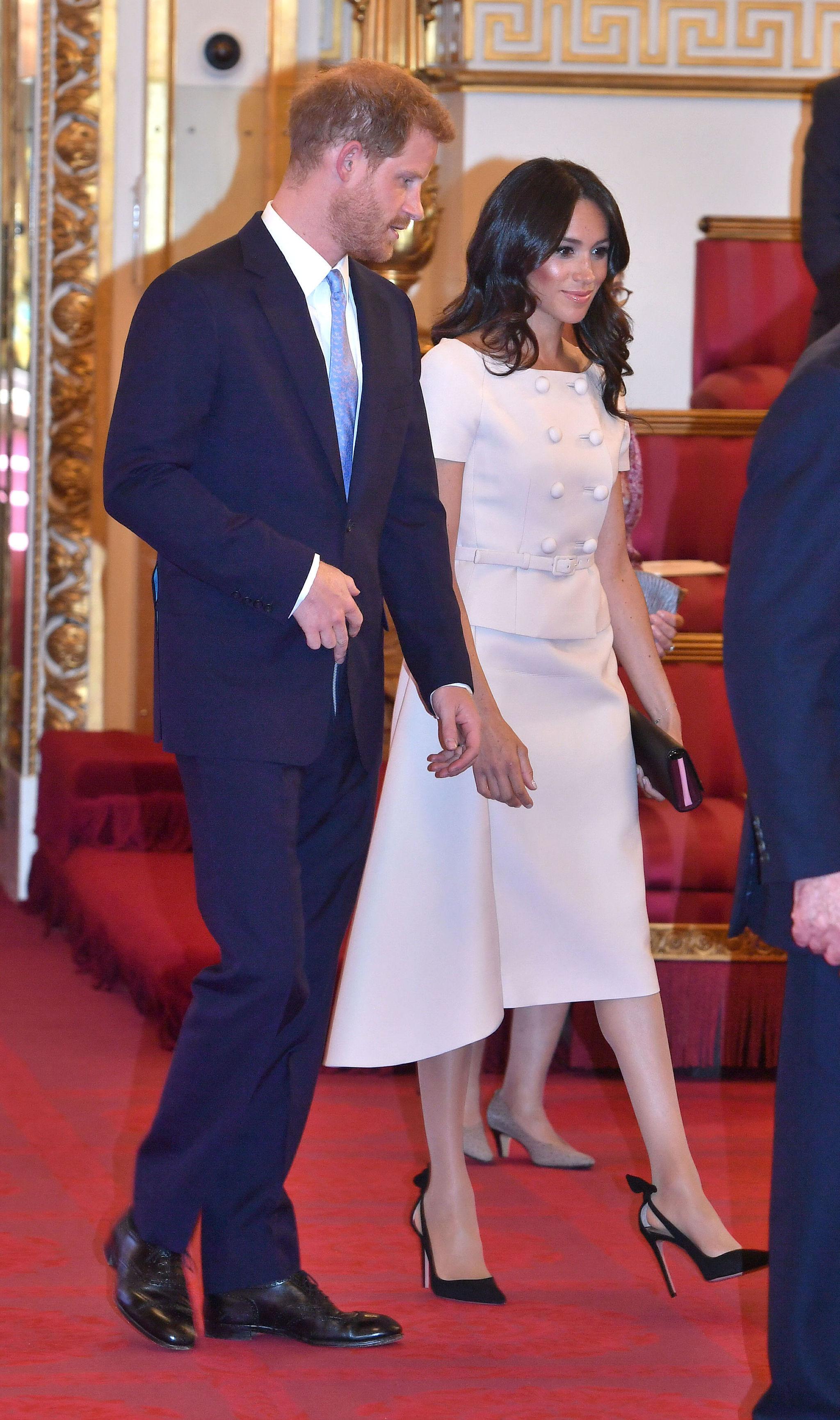 Meghan Markle y el príncipe Harry en los Premios de los Jóvenes...