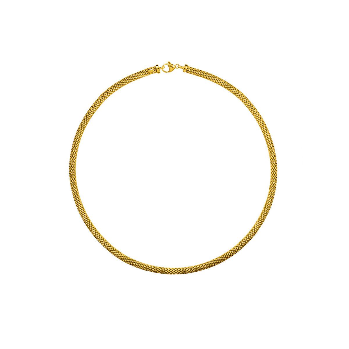 Collar rígido dorado, de Aristocrazy (119 euros).