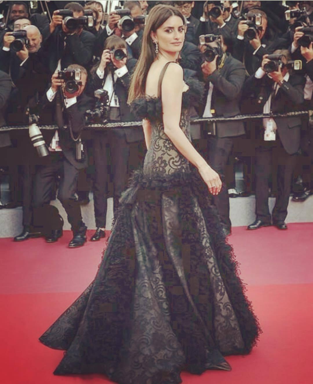 Penélope Cruz en el festival de Cannes 2018 (vestido: Chanel)