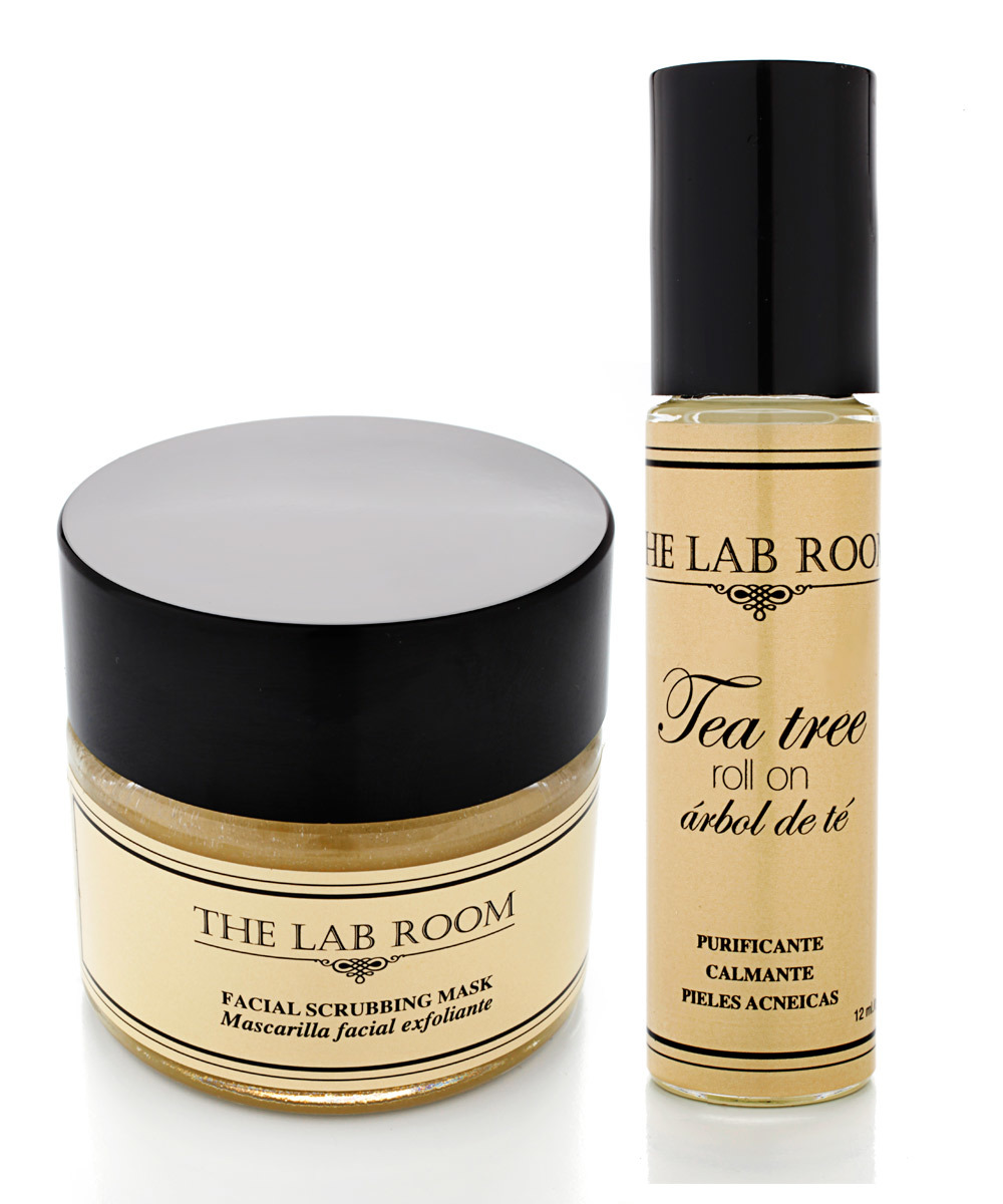 Facial Scrubbing Mask y Tea Tree Roll on, The Lab Room.