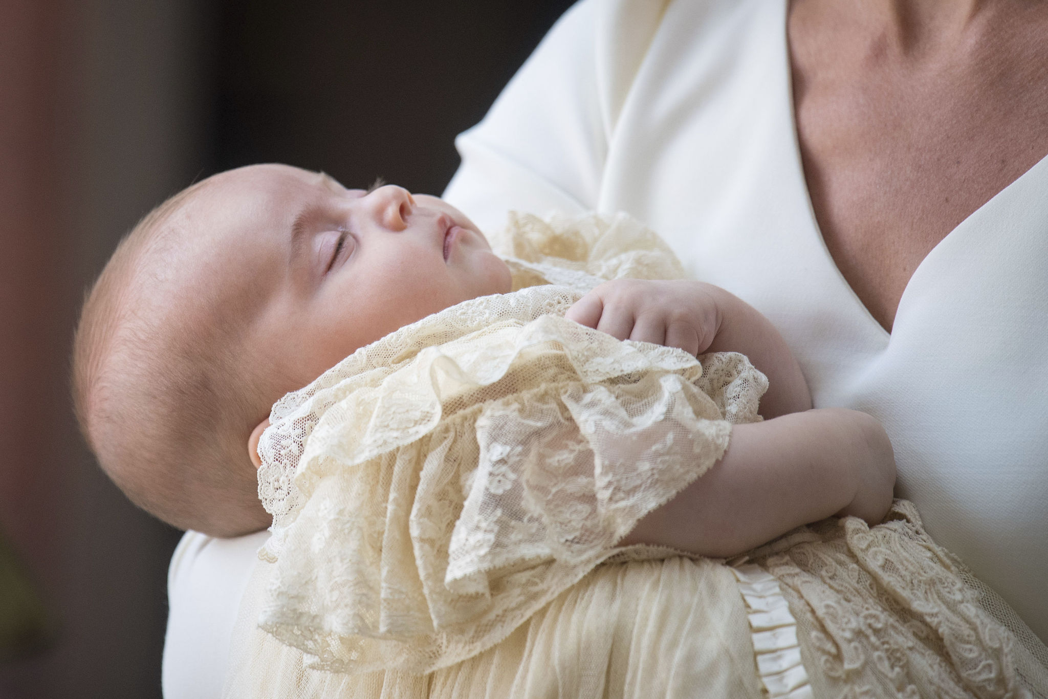 El príncipe Louis en su bautizo.