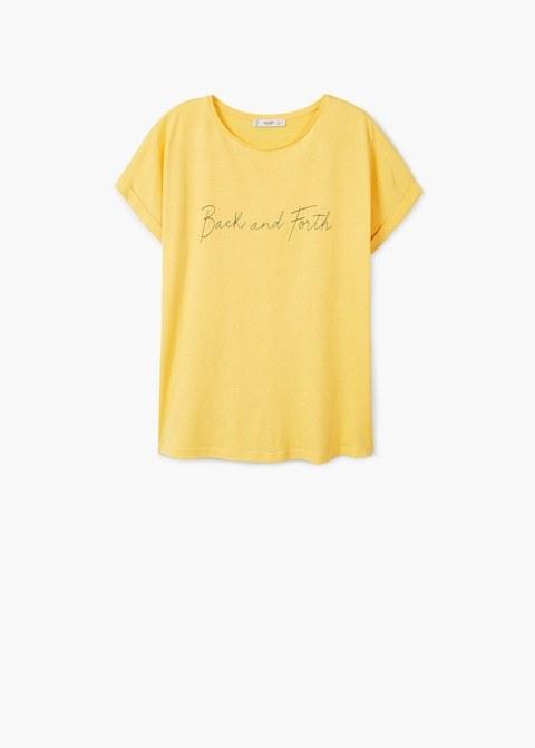Camiseta básica con texto, de Mango (7,99 euros).