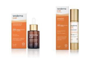 C-VIT Liposomal serum 30ml y C-VIT Radiance fluido luminoso 50ml.