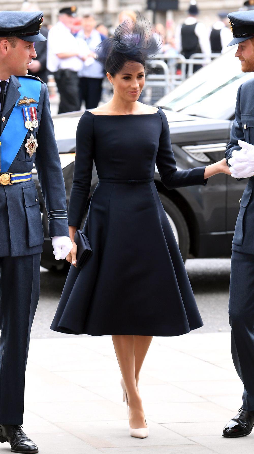 Meghan Markle vestida de Dior durante la conmemoración del centenario...