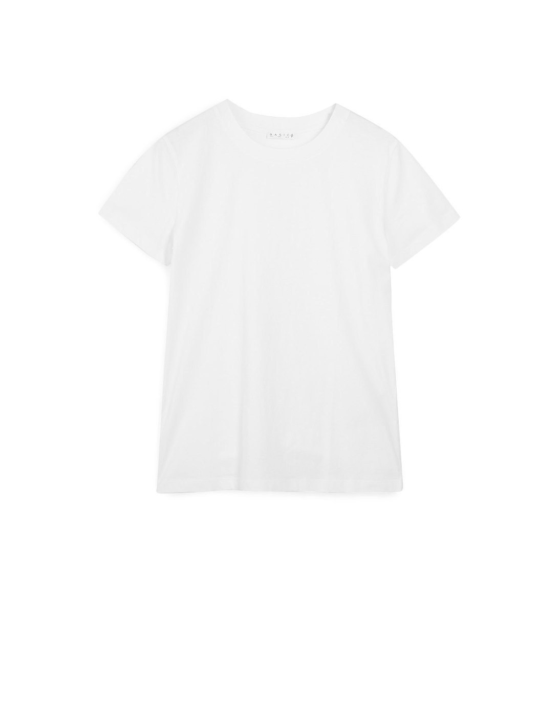Camiseta básica blanca, de Stradivarius (5,99 euros).