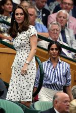 Meghan Markle y Kate Middleton, espectadoras de lujo en Wimbledon