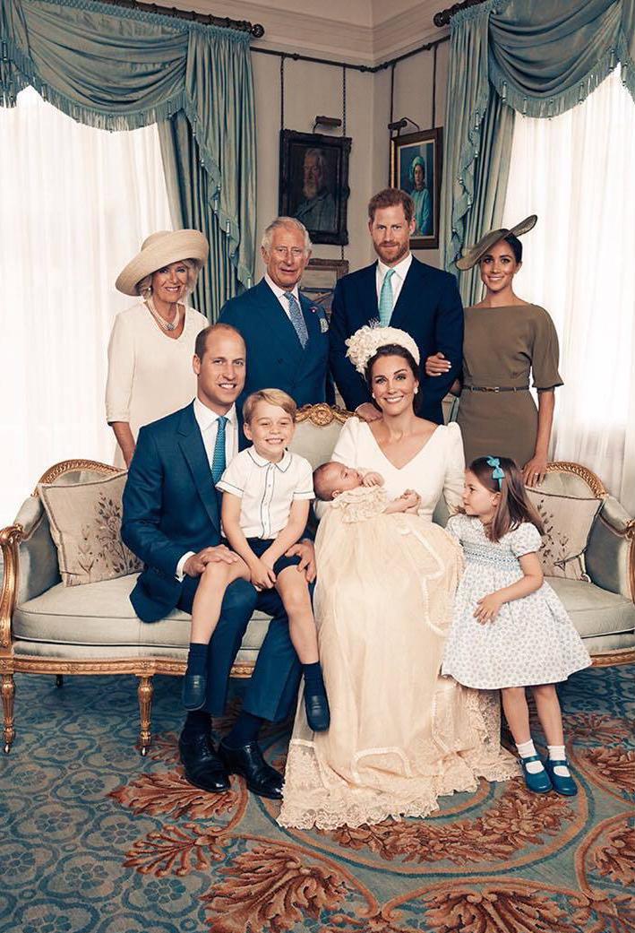 Una de las fotos oficiales del bautizo del príncipe Louis.