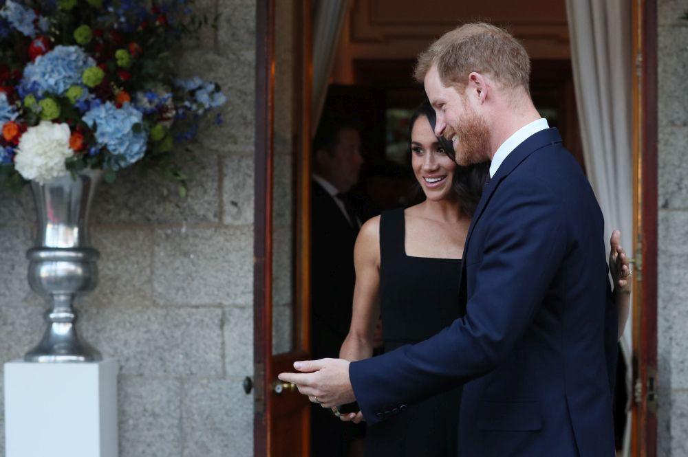 Meghan Markle y el príncipe Harry durante su visita a Dublín
