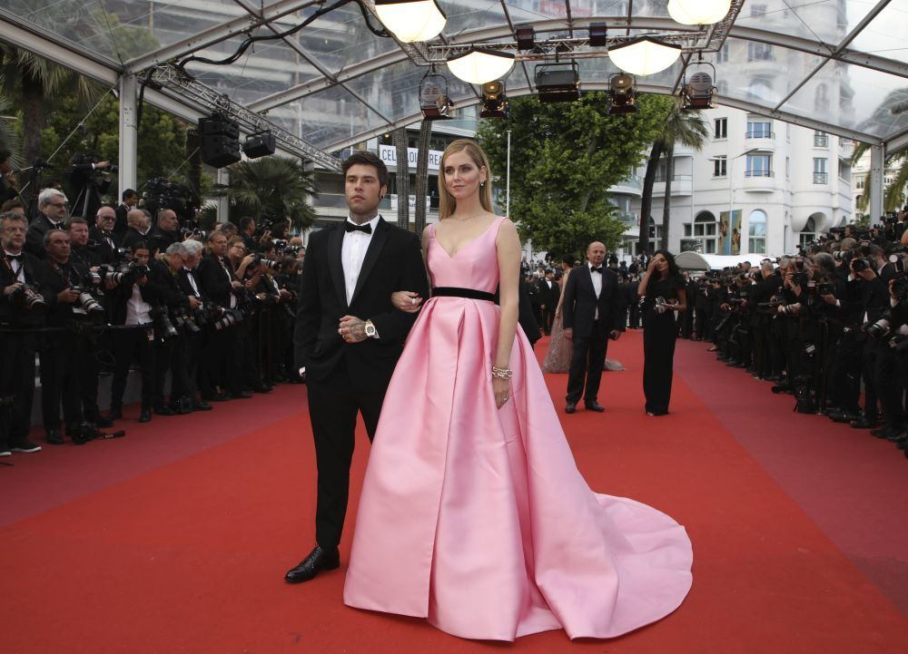 Chiara Ferragni y Fedez en el Festival de Cannes en mayo de este año.