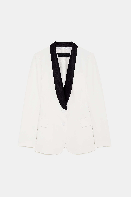 Chaqueta de esmoquin de Zara (39,99 euros).