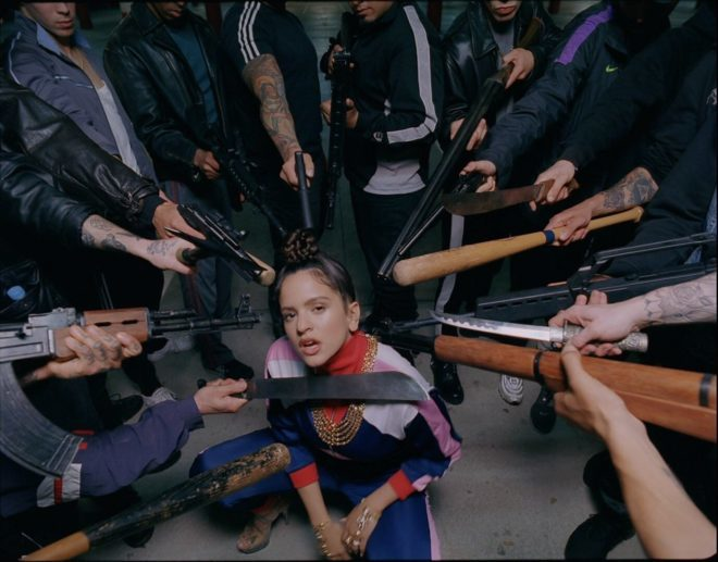 """Imagen del vídeo """"Pienso en tu mirá"""" de Rosalía."""