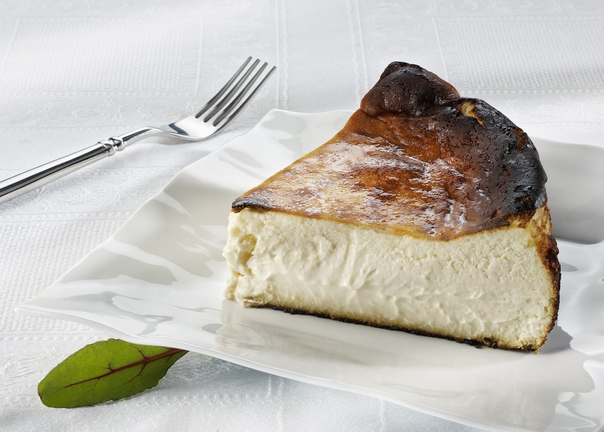 Tarta de queso del restaurante La Viña San Sebastián.