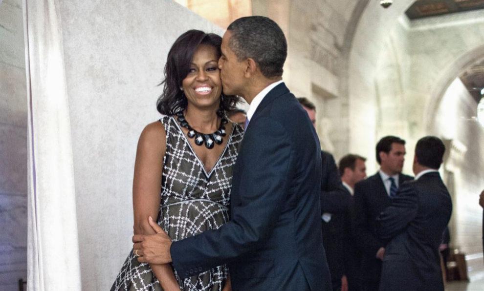 Barack Obama junto a su mujer Michelle Obama en un acto de Naciones...