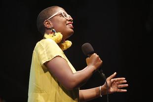 Cécile McLorin Salvant durante su concierto en La Trini.