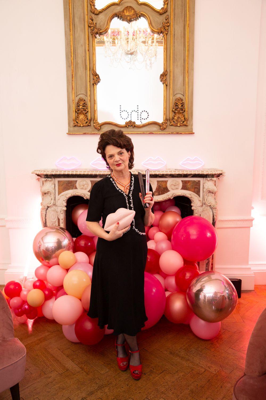 La diseñadora británica Lulu Guinness durante la fiesta de...