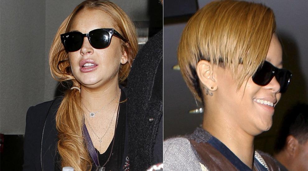 Ni Rihanna ni Lindsay Lohan se libran de la papada o doble mentón.