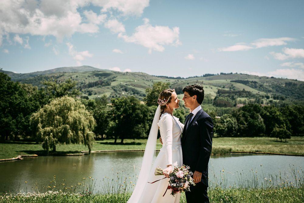 Patri y Julio se casaron en un palacete señorial de estilo inglés...