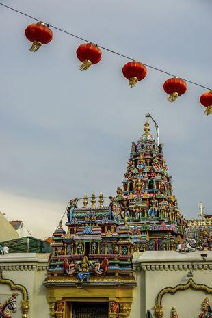 El templo Sri Mahamariamman  en la calle Masjid Kapitan Keling,  de...