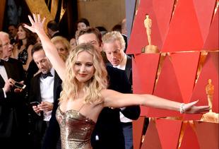 La actriz Jennifer Lawrence en la pasada edición de los Oscar