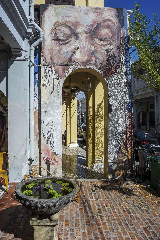 Un mural icónico del Street Art de George Town.