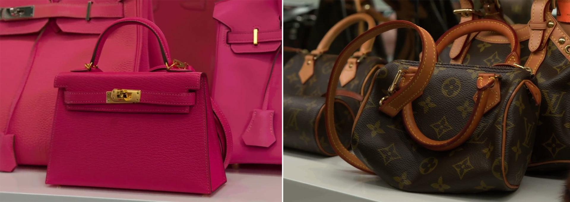 A la izquierda el modelo de Hermes y a la derecha el de Louis Vuitton...