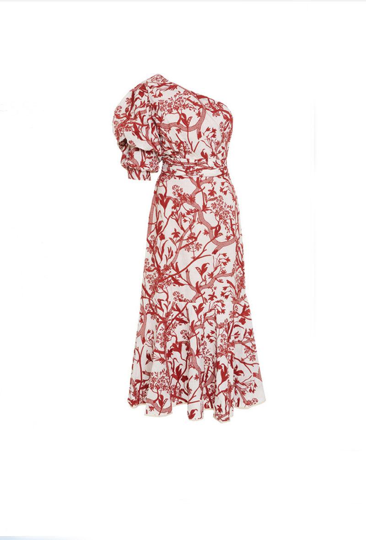 Vestido asimétrico de Johanna Ortiz. Forma parte de su colección...