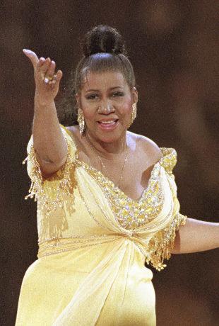 Aretha Franklin en 1993 en su actuación en la gala del Presidente...