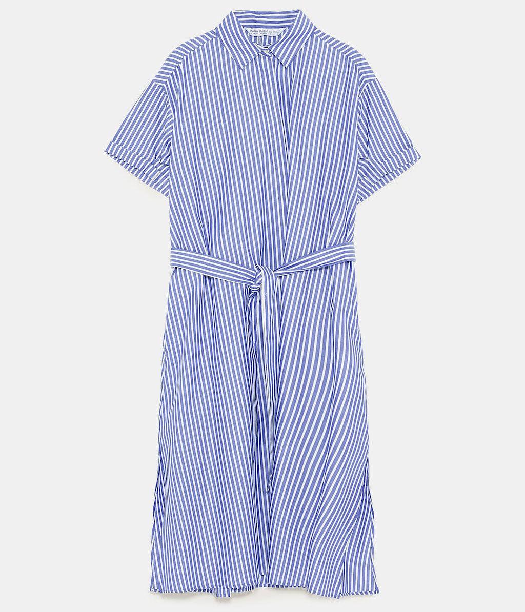 Estilo camisero de rayas en tonos blancos y azules, de Zara (29, 95...