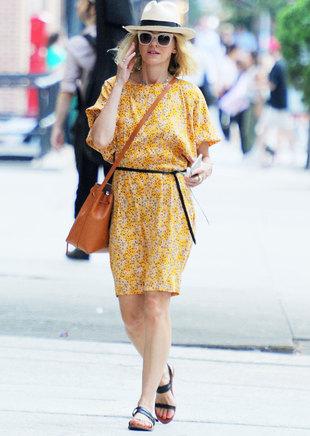 La actriz paseando por Tribeca (Nueva York).