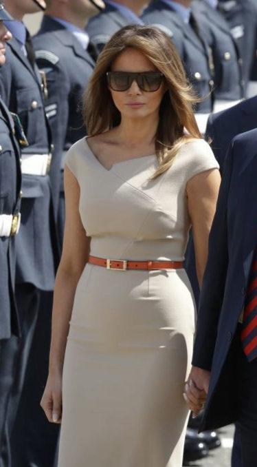 Melania Trump durante su visita a Londres.