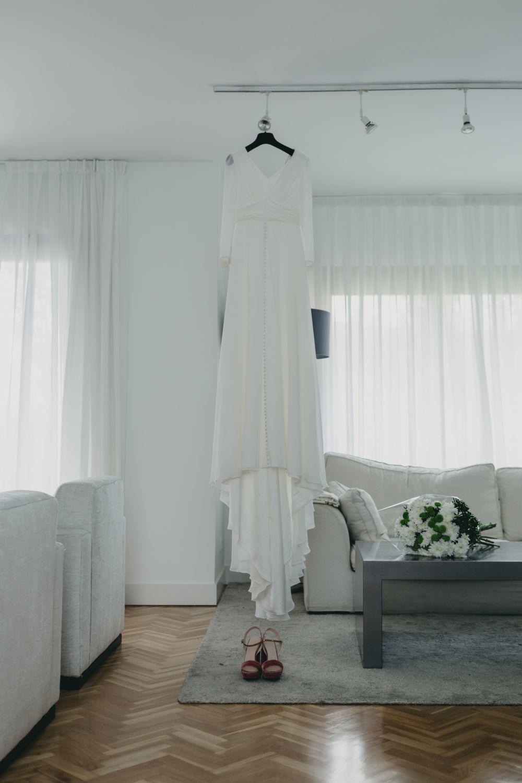 El vestido de novia era de la diseñadora Sofía Delgado.