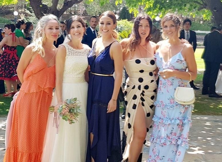 La actriz acudió a la boda de la directora creativa Melania Pan...