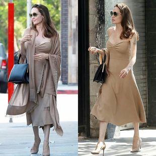 Angelina Jolie te da los trucos para lucir tus vestidos en otoño