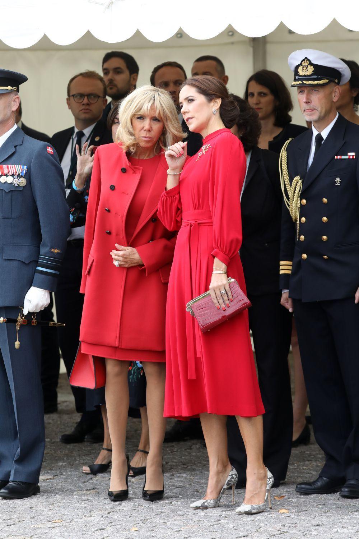 Brigitte Macron junto a Mary de Dinamarca
