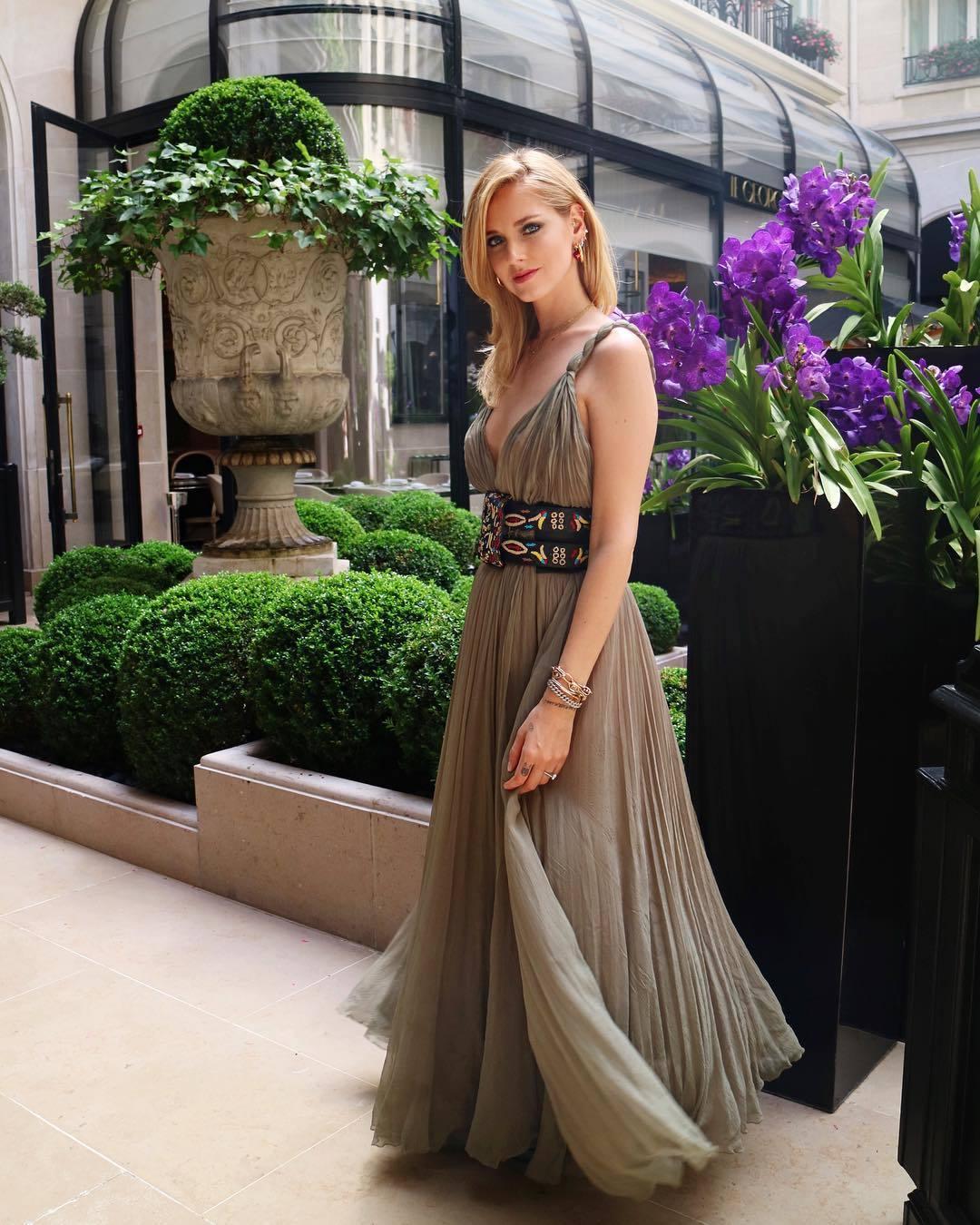 Chiara Ferragni en la Semana de la Alta Costura de París, con un...