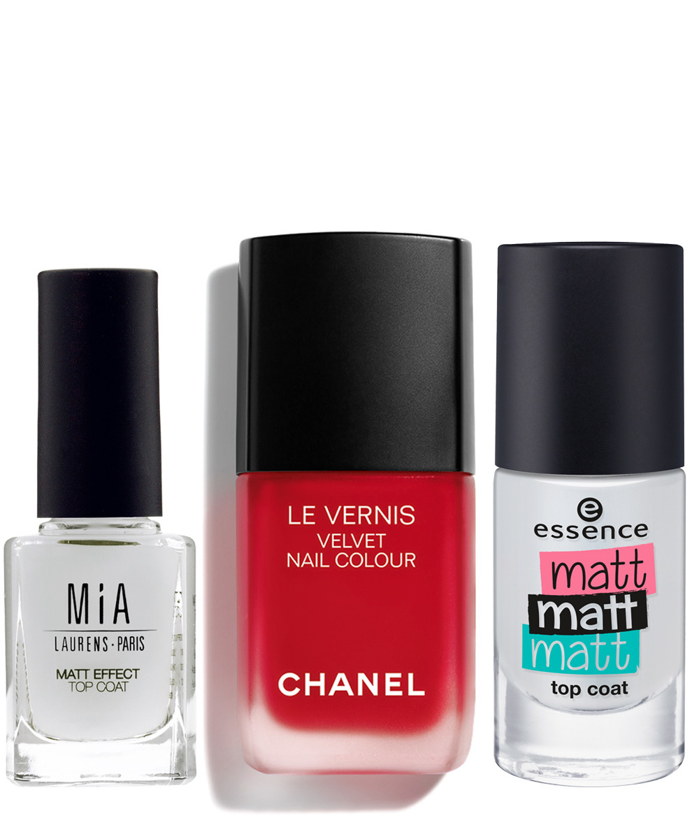 Matt Effect Top Coat, Mia Laurens (6,95 euros); Le Vernis Ultime 636...