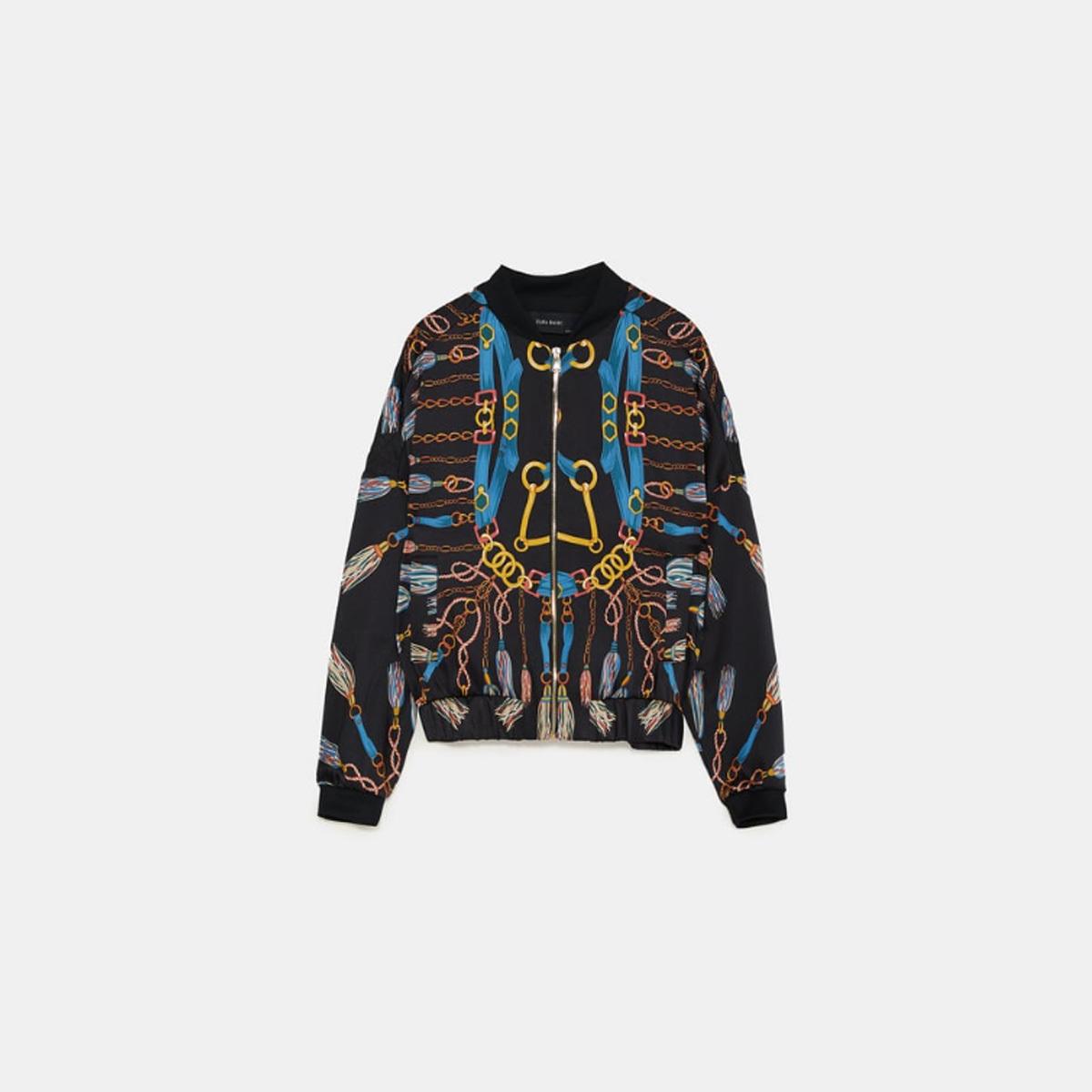 invicto x replicas disfruta del mejor precio Bomber estampada | Zara nos da los trucos para vestir ...
